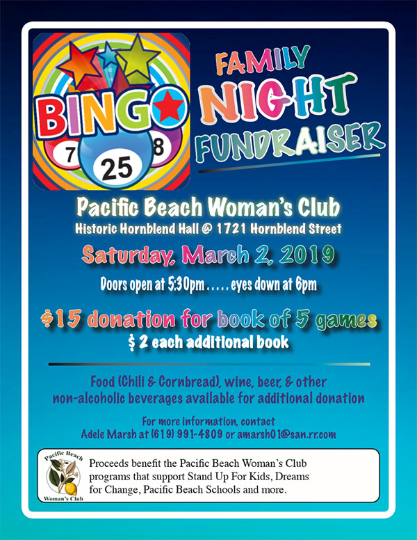 Bingo Night on March 2, 2019
